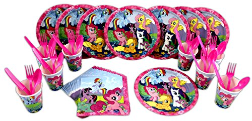 My Little Pony Lunch Plates, Napkins, Cups, Forks, Spoons, Knives Birthday Party Set for (Pony Knife)