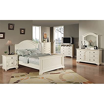 Picket House Furnishings Addison 6 Piece Queen Bedroom Set in White