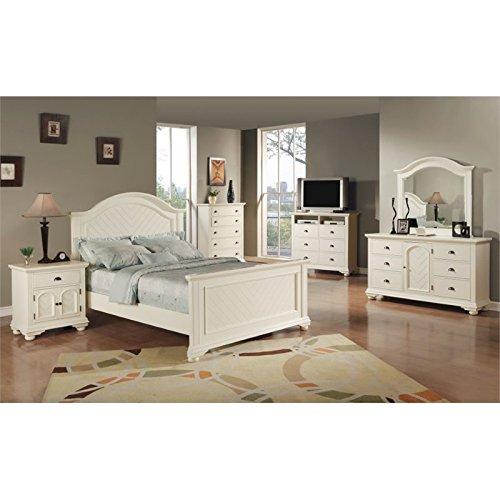 Elements Addison 6 Piece Queen Bedroom Set in White