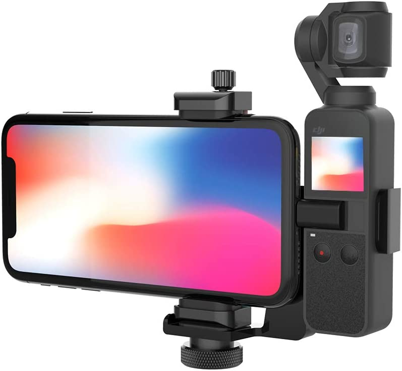 """Smatree OSMO Pocket Phone Holder Set Expansion Accessories with 1/4""""Thread Screw Compatible with DJI OSMO Pocket and Smartphone"""