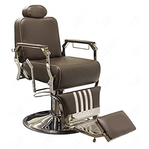 SkinAct Vintage Salon Chair - Brown - Vintage Barber Chair: Amazon.com