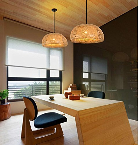 LIN XIAO HAO mayu Simple Chandelier Nordic Restaurant Lights Led Bamboo Art Rattan Weaving Pendant Lamps