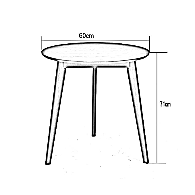 Amazon.com: Desk Kitchen Dining Table Coffee Wooden Round ...