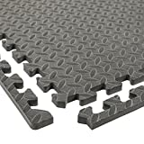 Incstores Diamond Soft Extra Thick Anti Fatigue Interlocking Foam Tiles - 2ft x 2ft Tiles Ideal for Laundry Room Flooring, Kitchen Mats, Exercise Mats, and Garage Mats (Grey, 36 Tile Pack, 144 Sqft)
