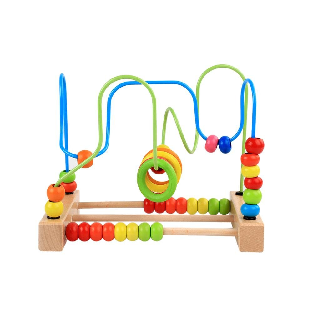 Domybest Zählen Bead Lernspielzeug Abacus Maze Roller Coaster Holz Baby Spielzeug