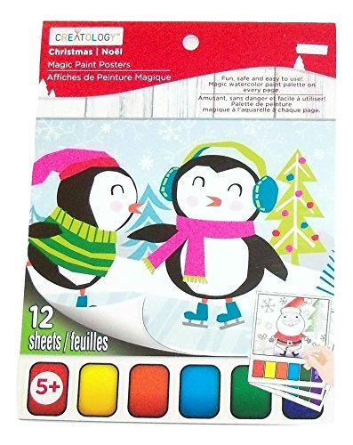 (Creatology Magic Paint Posters ~ Christmas Edition (Snow, Icicles, Skates; 12 Posters, 6