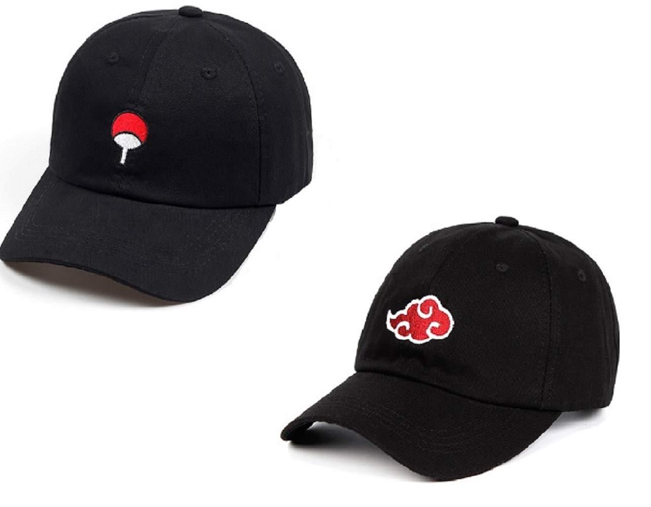 Ryulife Akatsuki Anime Naruto Dad Hat Uchiha Baseball Caps Adjustable Black