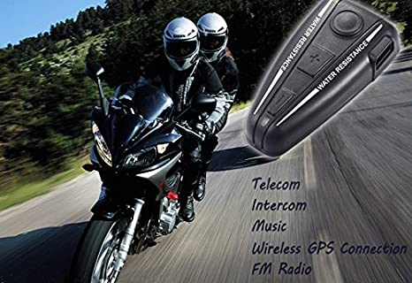 Amazon.com: AUTOLOVER D2 500m Bluetooth Motorcycle Intercom ...