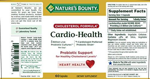 Cardio Health Probiotics Nature S Bounty