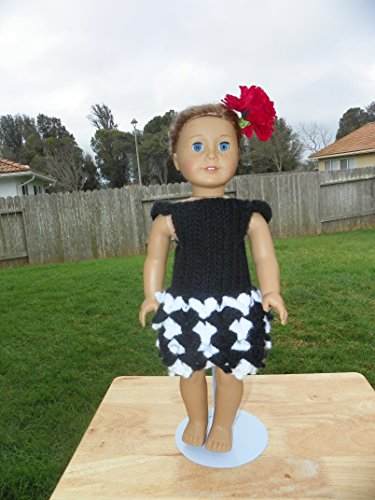 18 Inch Doll Crochet Dress Pattern Worsted Weight Fits American Girl Doll Journey Girl My Life Our Generation: Crochet Pattern (18 Inch Doll Whimsical Clothing Collection Book 1)