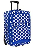 Cheap Ever Moda Polka Dots Carry On Luggage (Royal Blue)
