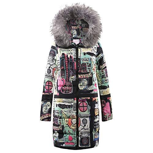 Women Coats Winter,KIKOY Ladies Warm Long Down Fur Collar Hooded Parka Jacket