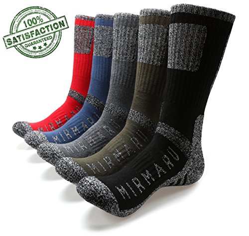MIRMARU-Mens-5-Pairs-Multi-Performance-Outdoor-Sports-Hiking-Trekking-Crew-Socks