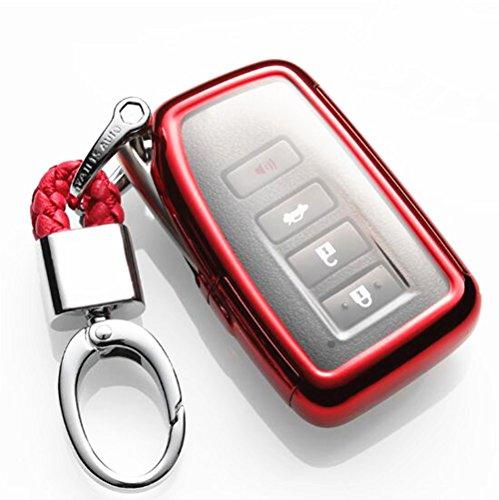 - YUWATON TPU Car Key Cover Key Case Car Remote Control Cover for LEXUS/RX200T/IS/CT/GS/NX200/ES250/ES300H 3 Button 4 Button Smart Key Cover Key Case Key Fob (red)