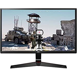 LG 24 inch Gaming Monitor – 1ms, 75Hz,Full HD, IPS Panel with VGA, HDMI, Display Port, Heaphone Ports – 24MP59G (Black)