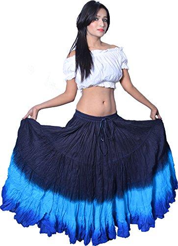 (Wevez Women's ATS Tribal Dip Dye 25 Yard Skirt)