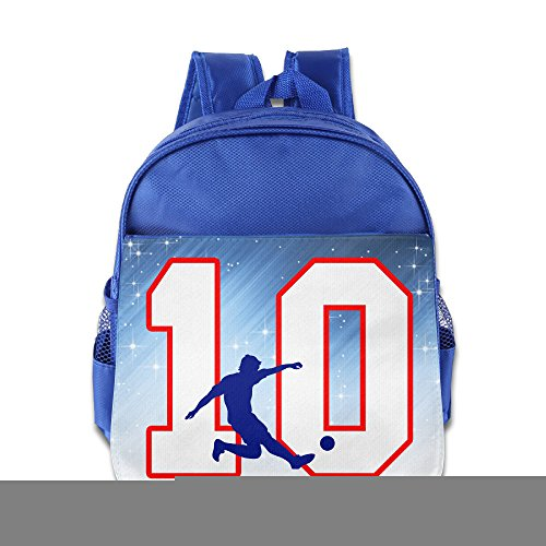 Price comparison product image D2 Cute Number 10 Footballer Backpack For 3-6 Years Old Childrens RoyalBlue Size One Size
