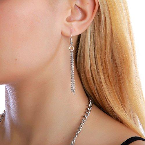 La Modeuse - Parure composée d'un collier et de boucles d'oreilles