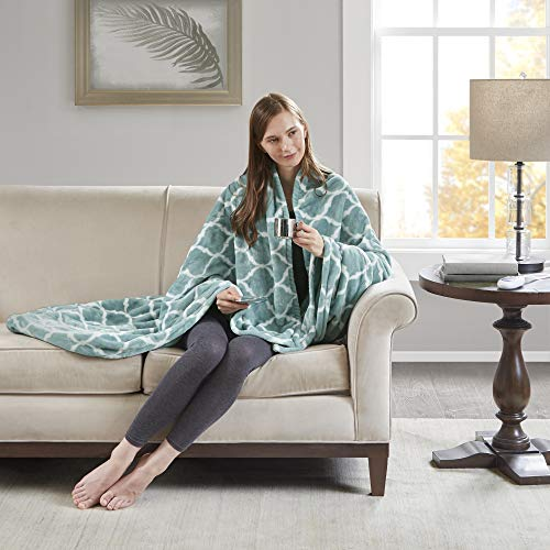 Beautyrest - Plush Heated Throw Blanket - Secure Comfort Technology -Oversized 60