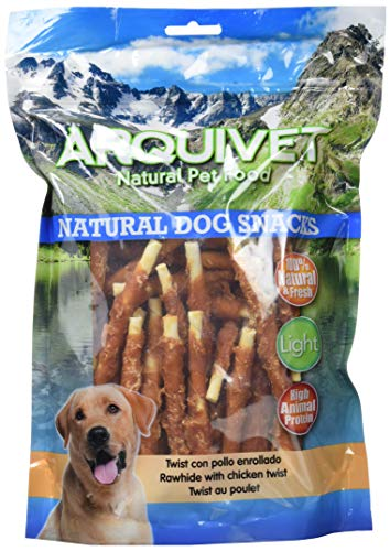 Arquivet Twist con pollo enrollado – Snacks Naturales para perros – Chuches para perros – Golosinas para perro – Premios…
