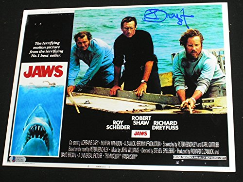 RICHARD DREYFUSS Signed Custom Metallic 10x13 Photo JAWS Autograph Beckett BAS COA D