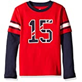 Scout + Ro Boys' Football 2-fer Tee, Apple Red/Navy, 7