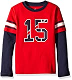 Scout + Ro Big Boys' Football Two-fer T-Shirt, Apple Red/Navy, 12