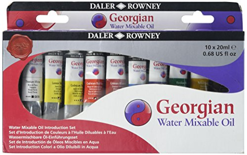 Daler Rowney : Georgian Water Mixable Oil Introduction Set : 10 x 20ml from DALER-ROWNEY/FILA CO
