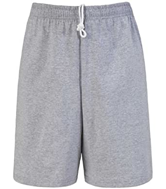 Fruit of the Loom Men's Jersey Short (Small, Heather Grey)