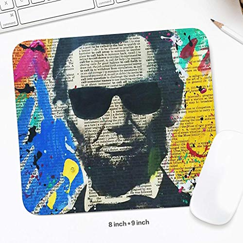 Unisex Womens Cool Abraham Lincoln Posters White Cool Pads Gaming Symbol Schoolsuppies Valentine's Day ()