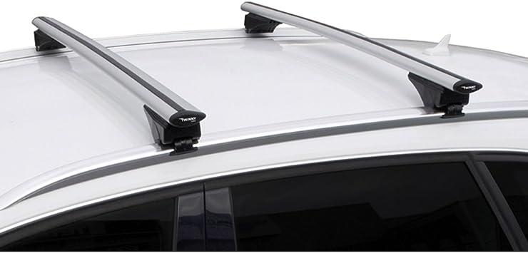 Twinny Load Universal Dachträgersatz Aluminium Fly Bar 124cm Für Pkw S Mit Offene Geschlossene Dach Schiene Auto
