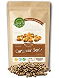 Coriander Seeds Whole | 15 oz - 425 g Reseable Bag, Bulk | Mediterranean Region Crops | 100% Natural, Freshly Packed | Gluten-Free & Non-GMO | by Eat Well Premium Foods