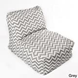 chateau designs Chevron indoor/ Outdoor Beanbag Chair Grey