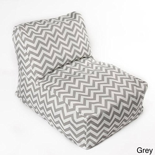 chateau designs Chevron indoor/ Outdoor Beanbag Chair Grey by chateau designs