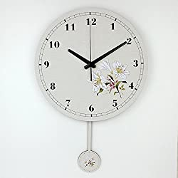 Living Room Decoration Wall Clock Mute Wall Clock Home Decor Large Wall Clock Modern Design Shabby Chic Orologio Parete style 17 14 inch