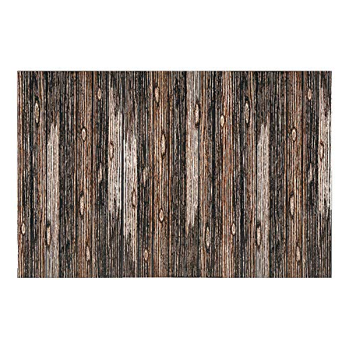 Fun Express - Wood Plank Backdrop Banner (3pc) - Party Decor - Wall Decor - Preprinted Backdrops - 3 Pieces