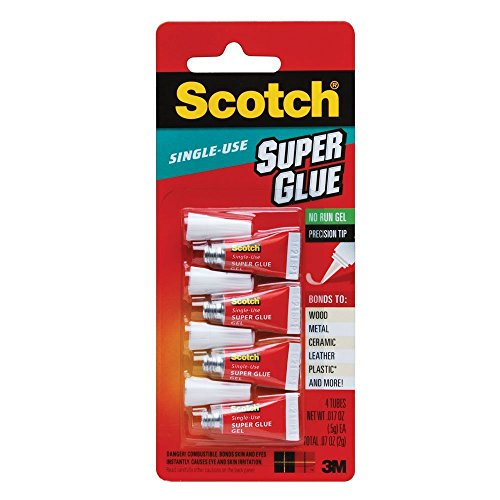 Scotch Single Use Super Glue Gel (AD119), 2-PACK ()