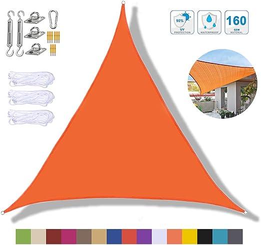Sun Shade Sail Sunscreen Toldo Toldo Impermeable Al Aire Libre Garden Shade Canopy Patio Party Triangle Canopy Anti-UV Corner Pergola 2.4x2.4x2.4m,Orange: Amazon.es: Deportes y aire libre