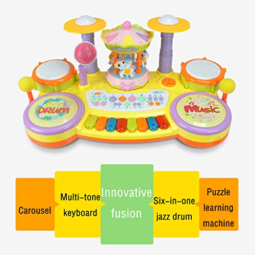 Multifunctional Electronic Piano Carousel High Fidelity Microphone Music Piano Listen To Your Baby Or Child's Voice Anytime, Anywhere The Best Gift For Your Children On Chilfren's Day by YOCrazy-US Direct (Image #7)