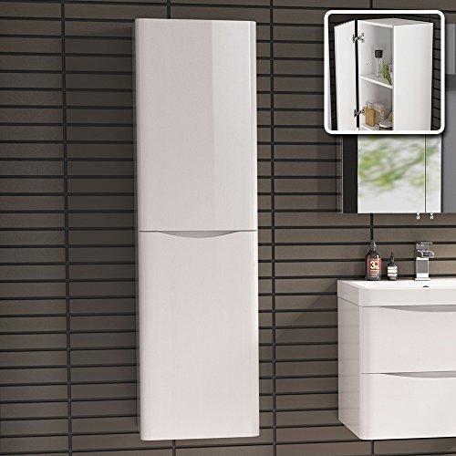 1400 mm Tall Modern Bathroom Furniture Cupboard Left Hand Cabinet Storage Unit iBathUK