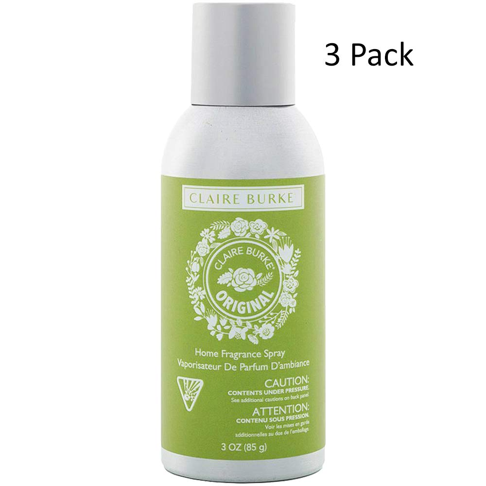 Claire Burke Original Home Fragrance Spray 3OZ-(Bundled with Pearsons Stain Remover) Pack Size