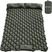 OTHWAY Camping Sleeping Pad Self Inflating Camping mat Foot Press Inflatable Pad Air Mattress with Pillow for
