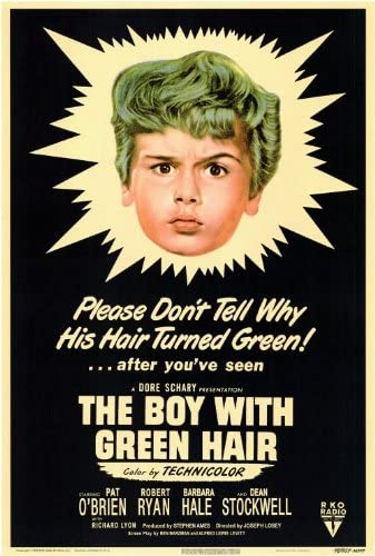 Amazon.com: The Boy With The Green Hair Movie Poster (27 x 40 Inches - 69cm  x 102cm) (1948) -(Pat O'Brien)(Robert Ryan)(Barbara Hale)(Dean Stockwell):  Prints: Posters & Prints