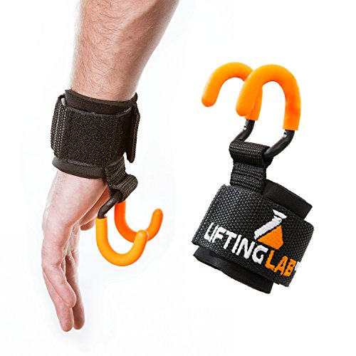 Lifting Lab Ultimate Back Builder | Weight Lifting Hooks with Non Slip Coatings