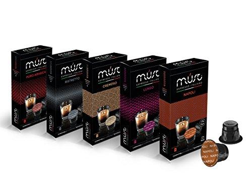 Nespresso Compatible Coffee Capsules - MUST Espresso Italiano 100 Variety Pack (Italiano Gift)