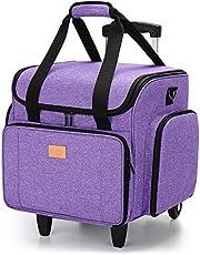 حقيبة آلة الخياطة مع دمية قابلة للفصل، حقيبة خياطة مع وسادة سفلية قابلة للإزالة (مرشح للحصول على براءة اختراع)، لون أرجواني