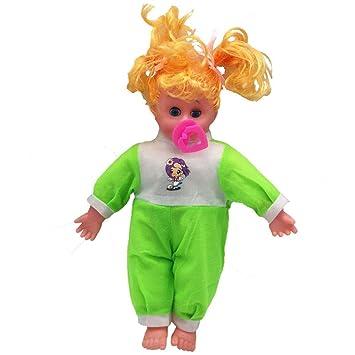 tianranrt Baby Sonido muñeca juguete Chupete Rubio ...