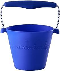 Scrunch 38007 Sand and Beach Toys Bucket, Blue