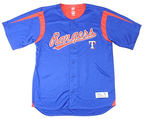 Dynasty Mens Size Large ''Texas Rangers'' Athletic Jersey, Blue/Red by Dynasty