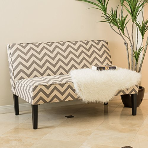 Alpha Dark Gray Pine Loveseat
